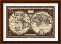 Framed Decorative World Map