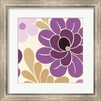 Framed Fuchsia Floral I