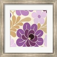 Framed Fuchsia Floral IV