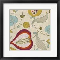 Cabana Floral IV Framed Print