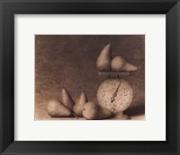 Pears with Scale Framed Print