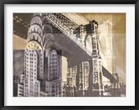 Framed Metropolitan Collage I