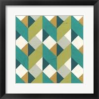 Chevron Illusion II Framed Print