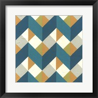 Chevron Illusion III Framed Print