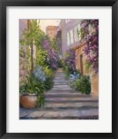 Framed Stairway Of Flowers