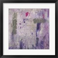 Framed Dusty Violet II