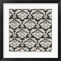 Framed Black & Tan Tile III