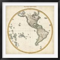 Framed 1812 Western Hemisphere