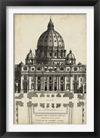 Framed Basilica at the Vatican