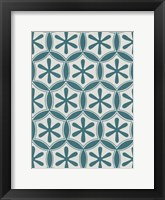 Framed Ornamental Pattern in Teal III