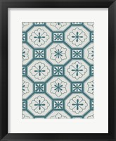 Framed Ornamental Pattern in Teal VI