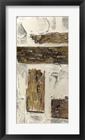 Birch Bark Abstract I Framed Print