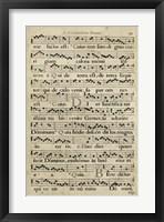 Framed Vellum Songbook I