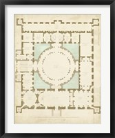 Framed Plan in Taupe & Spa I