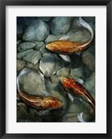 Framed Tres Koi I