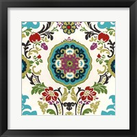 Jewel-tone Damask IV Framed Print