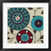 Blue Blossom Fresco I Framed Print