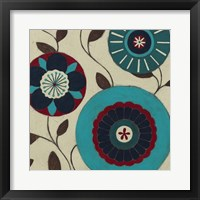Blue Blossom Fresco III Framed Print