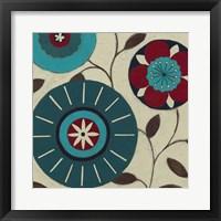 Blue Blossom Fresco IV Framed Print