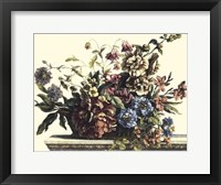 Framed Basket of Flowers I