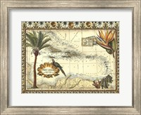 Framed Tropical Map of West Indies