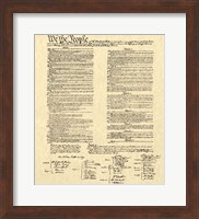 Framed Constitution on Khaki