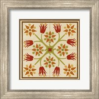 Framed Floral Folk Tile II