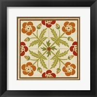 Framed Floral Folk Tile III