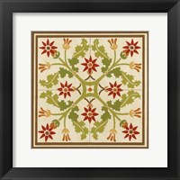 Framed Floral Folk Tile IV