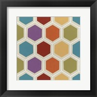 Retro Pattern I Framed Print