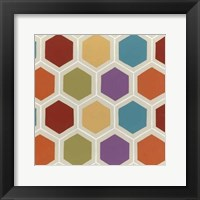 Retro Pattern IV Framed Print