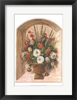 Framed Peonies & Apples I