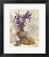 Framed Purple Iris & Pear