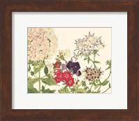 Framed Small Japanese Flower Garden II