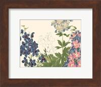Framed Small Japanese Flower Garden III