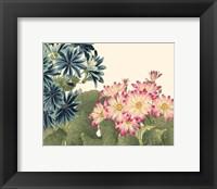Framed Small Japanese Flower Garden IV