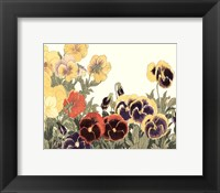 Framed Small Japanese Flower Garden V