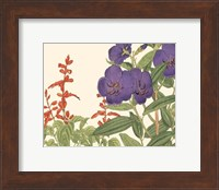 Framed Small Japanese Flower Garden VI