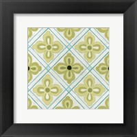 Cottage Patterns I Framed Print