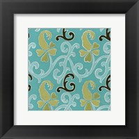 Cottage Patterns IV Framed Print