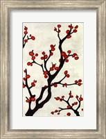 Framed Red Berry Branch I