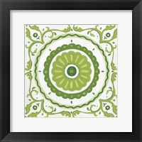 Folk Tile II Framed Print