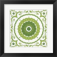 Folk Tile III Framed Print
