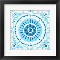 Folk Tile IV Framed Print
