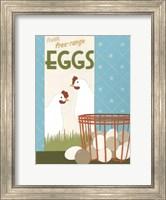 Framed Free-Range Eggs