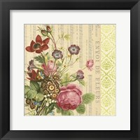 Framed English Garden Bouquet II