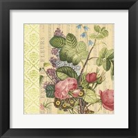 Framed English Garden Bouquet III