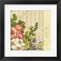Framed English Garden Bouquet IV