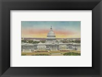 Framed Capitol Panoramic, Washington, D.C.