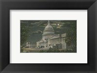 Framed Capitol Building at Night